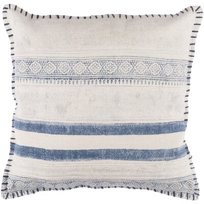 Friedman Striped Square Cotton Throw Pillow