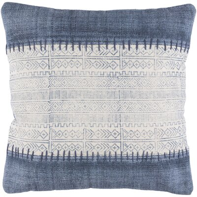 Friedman Striped Square Woven Cotton Throw Pillow Size: 30