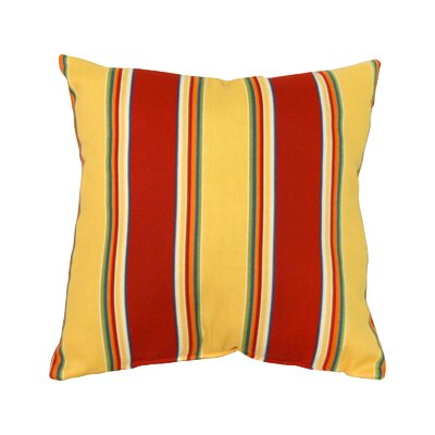 Alla Outdoor Throw Pillow Color: Carnival Stripe