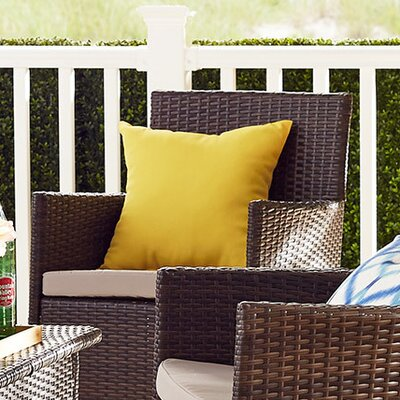 Alla Outdoor Throw Pillow Color: Sunbeam