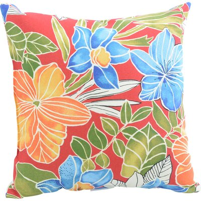 Alla Outdoor Throw Pillow Color: Aloha Red
