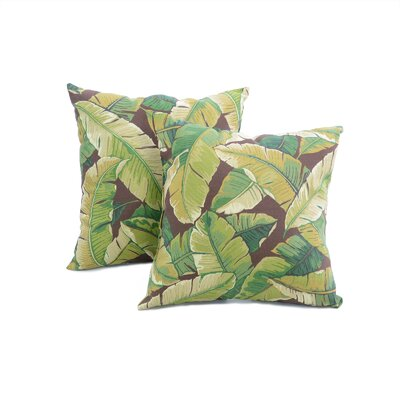 Alla Outdoor Throw Pillow Color: Palm Green