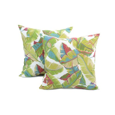 Quaria Throw Pillow Color: Palm Multi