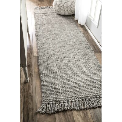 Windom Hand-Woven Gray Area Rug Rug Size: Runner 26 x 12