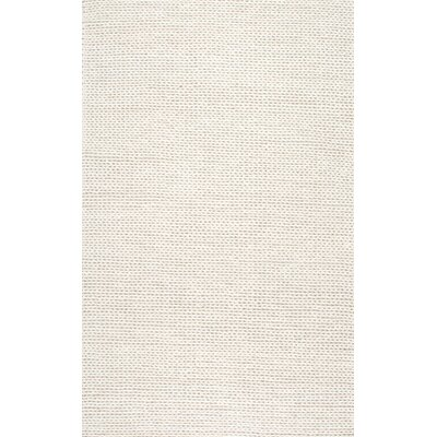 Zayan Meika Chunky Wool Cable Beige Area Rug Rug Size: 6 x 9