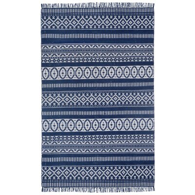 Bruges Hand-Loomed Blue Area Rug Rug Size: 3 x 5
