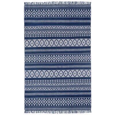 Bruges Hand-Loomed Blue Area Rug Rug Size: 4 x 6