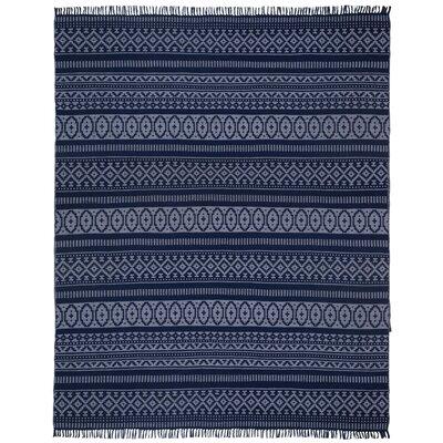 Bruges Hand-Loomed Blue Area Rug Rug Size: 9 x 12