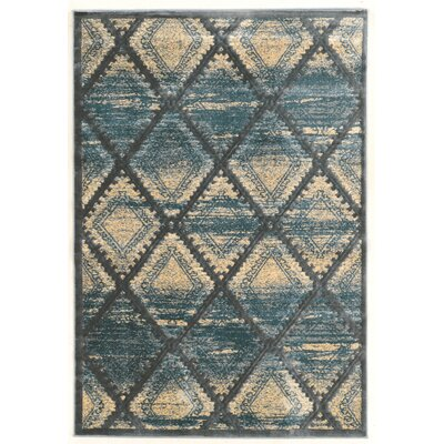 Alkmaar Blue/beige Area Rug Rug Size: Rectangle 2 x 3