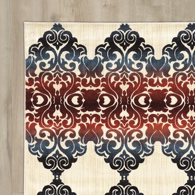 Othmane Beige/Red Area Rug