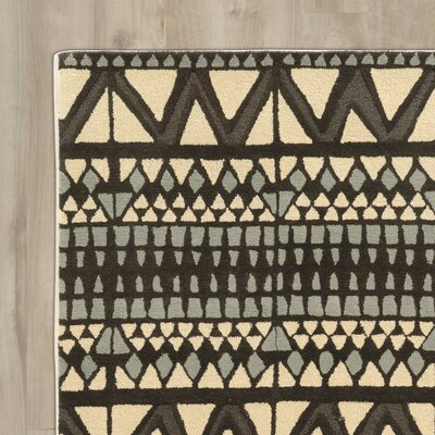 Abattoirs Hand-Tufted Beige/Gray Area Rug Rug Size: Rectangle 5 x 8
