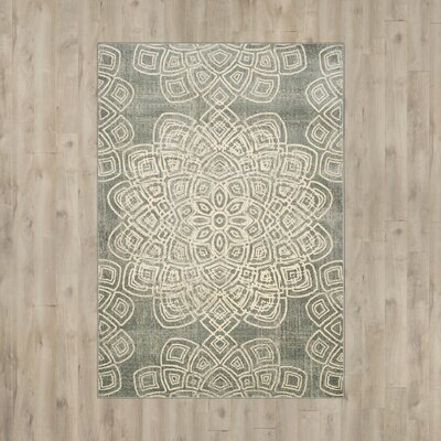 Avalon Light Gray Area Rug Rug Size: 53 x 76