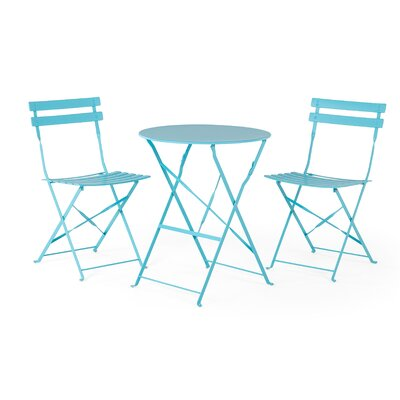Bouloupariset 3 Piece Bistro Set Finish: Blue