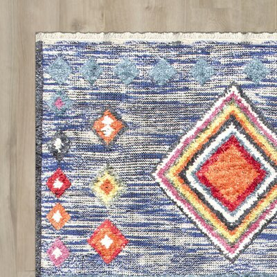 Bungalow Rose Hinojosa Olalla Hand-Knotted Area Rug