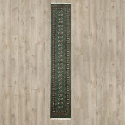 Jahir Hand-Knotted Green Area Rug