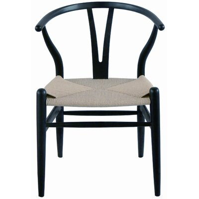 Christopher Side Chair (Set of 2) Finish: Black