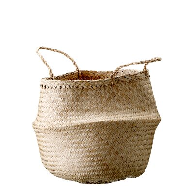 Bungalow Rose Seagrass Basket with Handles