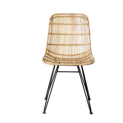 Karesinda Braided Rattan Side Chair Finish: Natural