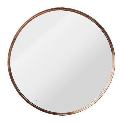 Nova Round Metal Framed Mirror Size: 18.5 H x 18.5 W