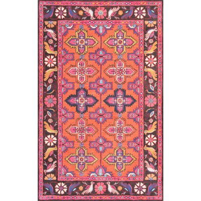 Cherell Hand-Tufted Pink Area Rug Rug Size: Rectangle 76 x 96