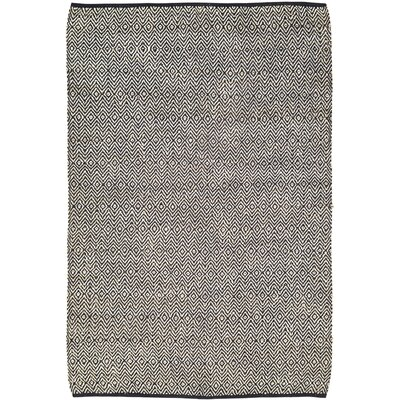 Alameda Hand-Woven Black/Beige Area Rug Rug Size: 6 x 9