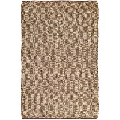 Conner Hand-Woven Brown/Beige Area Rug Rug Size: 6 x 9