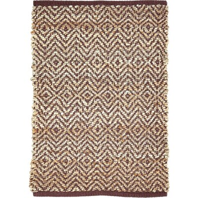 Conner Hand-Woven Brown/Beige Area Rug Rug Size: 18 x 26