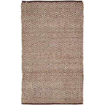 Conner Hand-Woven Brown/Beige Area Rug Rug Size: 3 x 5