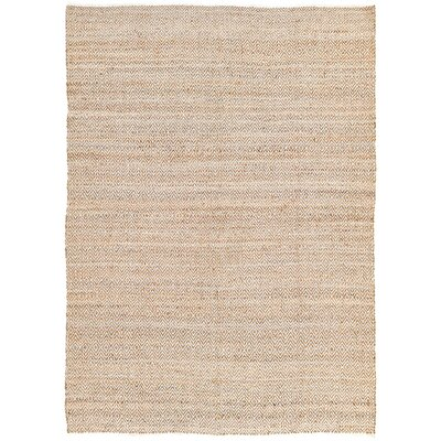 Conner Hand-Woven Natural Area Rug Rug Size: 8 x 11