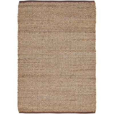 Conner Hand-Woven Brown/Beige Area Rug Rug Size: 4 x 6