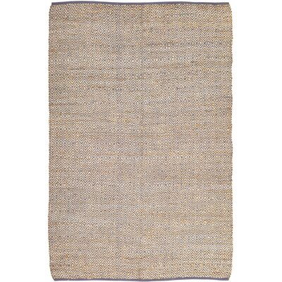 Conner Hand-Woven Grey / Beige Area Rug Rug Size: 6 x 9