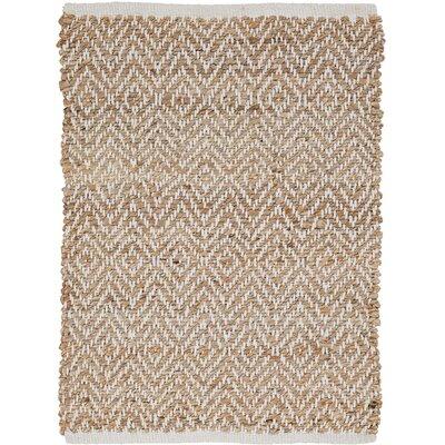 Alameda Hand-Woven Natural Area Rug Rug Size: 18 x 26