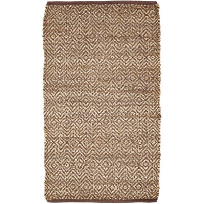 Conner Hand-Woven Brown/Beige Area Rug Rug Size: 23 x 4