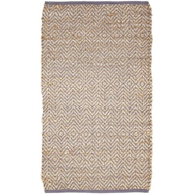 Conner Hand-Woven Grey / Beige Area Rug Rug Size: 23 x 4