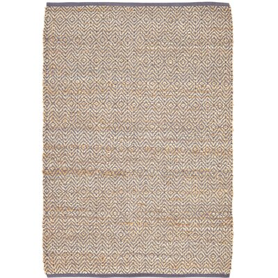 Conner Hand-Woven Grey / Beige Area Rug Rug Size: 4 x 6