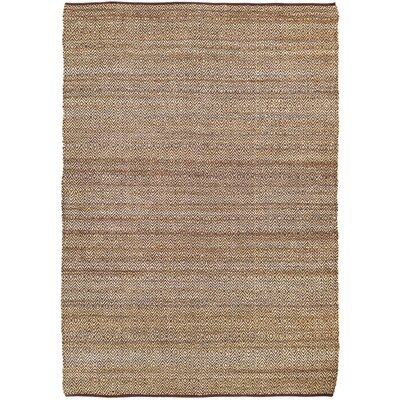 Conner Hand-Woven Brown/Beige Area Rug Rug Size: 8 x 11