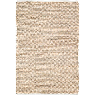 Conner Hand-Woven Natural Area Rug Rug Size: 4 x 6