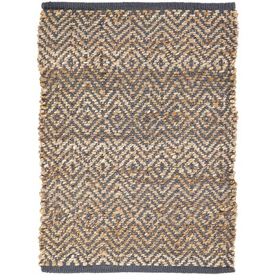 Conner Hand-Woven Grey / Beige Area Rug Rug Size: 18 x 26