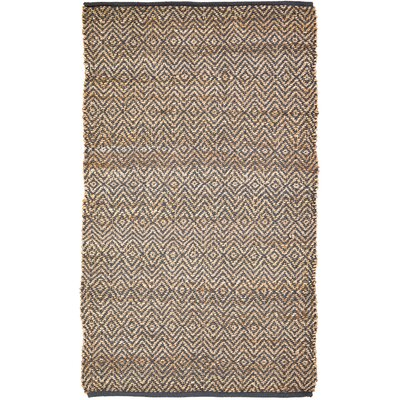 Conner Hand-Woven Grey / Beige Area Rug Rug Size: 3 x 5