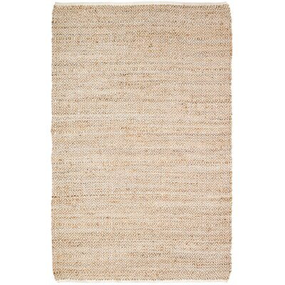 Conner Hand-Woven Natural Area Rug Rug Size: 5 x 8