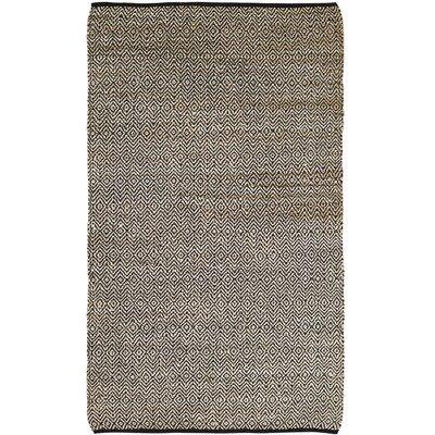 Alameda Hand-Woven Black/Beige Area Rug Rug Size: 5 x 8