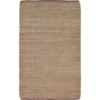 Conner Hand-Woven Brown/Beige Area Rug Rug Size: 5 x 8