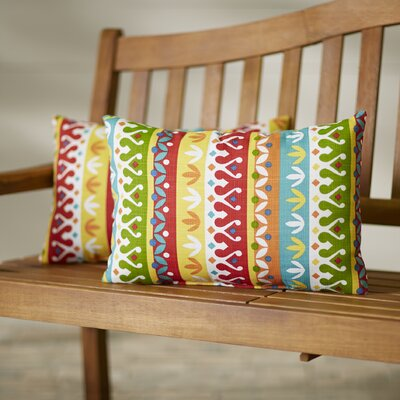 Khaldoun Outdoor Lumbar Pillow Color: Cotrell Garden