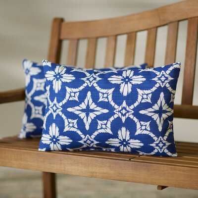 Mamora Outdoor Lumbar Pillow Color: Aspidoras Cobalt