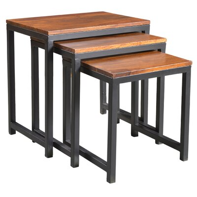 Chanler 3 Piece Nesting Tables Finish: Sheesham