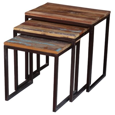 Zara 3 Piece Nesting Tables Finish: Reclaimed