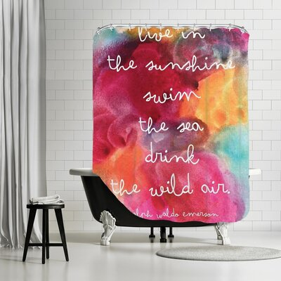 Amy Brinkman Live In The Sunshine Watercolor Shower Curtain