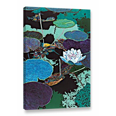 Midnight Moonglow Painting Print on Wrapped Canvas Size: 18