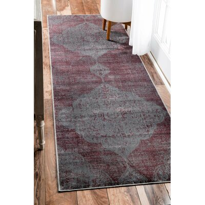 Charlaine Purple Area Rug Rug Size: Rectangle 25 x 8
