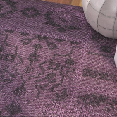 Bungalow Rose Sanaoubar Black/Purple Area Rug